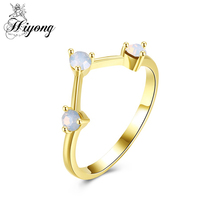 Deep Curved Band Ring Simple Crown White Three Stone Rings for Women Open Triangle Lightweight Everyday Jewelry Fast Shipping