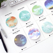 8pcs/Lot Dream Starry sky memo pad nature sticky note Post it note Gift stationery office school supplies GT402