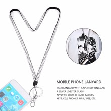 Rhinestone Crystal Bling Custom Lanyard & ID Badge Cellphone Key Holder Ring