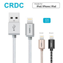 CRDC Nylon Braid Lightning to USB Cable (1.2m) for iPhone 7 Plus 6/6s 5s, iPad Pro Air 2, iPad mini 4 iPod [Apple MFi Certified](China)