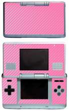Pink Carbon Fiber Vinyl Skin Sticker Protector for Nintendo DS NDS Original (fat) skins Stickers(China)