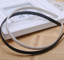 2 Pieces/lot White Black Two colors Fashion Plain Lady Plastic Hair Band Headband No Teeth Hair DIY Tool(China)