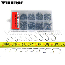 500Pcs/Box #6~15 Barbed Hook Fishhooks Fishinghook Black Bigger Fishing Hooks Freshwater Fish Hook Tackle