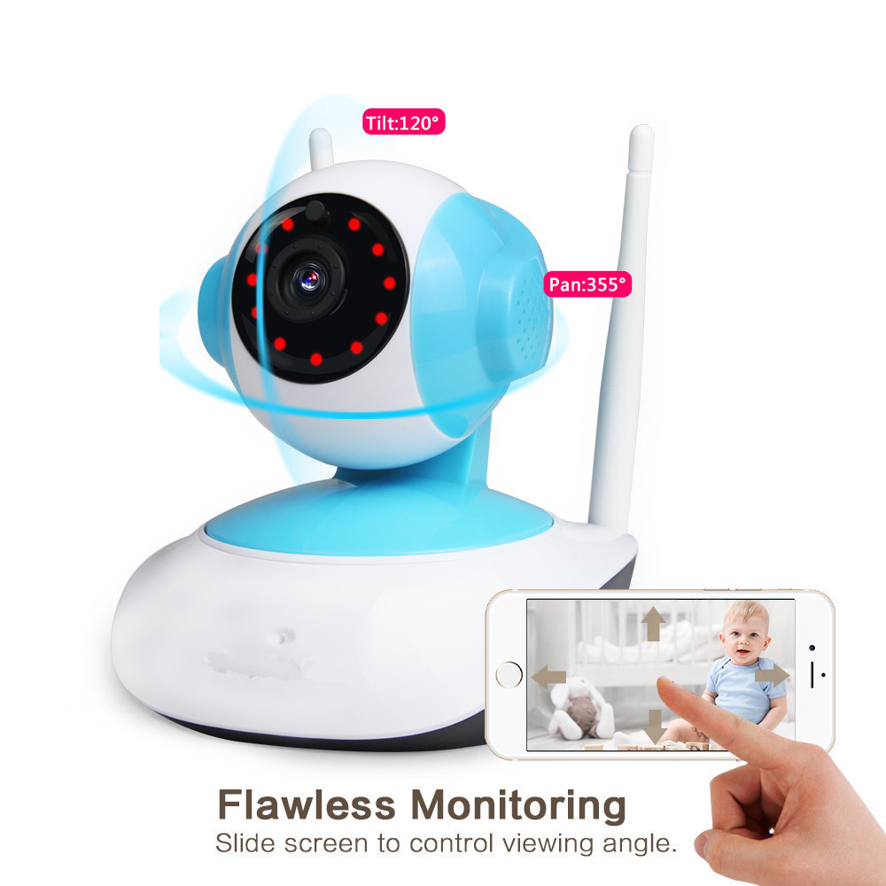 Wireless WiFi Security Camera System 1.3MP 960P HD Pan Tilt IP Network Surveillance Webcam Baby Monitor,Audio,Built-in Microphon<br>