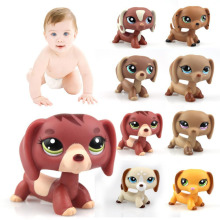 1 pc Cutie Dachshund series pubby Dog lps mini Action Figure preschool children play toy best gift(China)