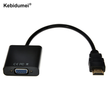 Kebidumei Male to Female HDMI to VGA Converter Adapter for PC Laptop Tablet Support 1080P HDTV HDMI2VGA