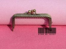 10pcs/lot 10.5cm Antique Brass Metal Handbag Frame Kiss Clasp Bag Making Supplies  Dual compartment Freeshipping