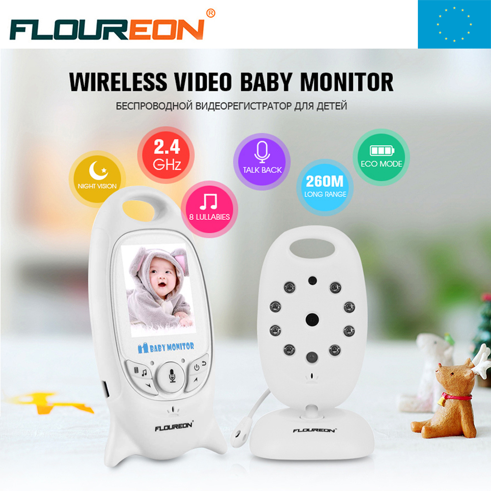 Local Shipping !  VB601 2.0 inch Color indoor Camera 2 Way Talk Night Vision IR LED Temperature Wireless Video Baby Monitor<br>