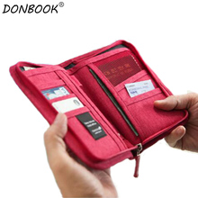 Donbook Waterproof Handle Wallet for Tickets Pocket Money PVC Material Organizer Storage Bags 151616(China)
