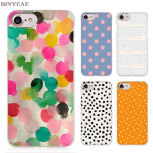 BINYEAE Polka Dots design cute Clear Cell Phone Case Cover for Apple iPhone 4 4s 5 5s SE 5c 6 6s 7 7s Plus