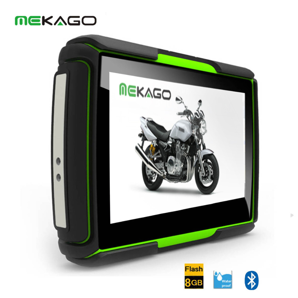 Free Shipping 4.3  Waterproof IPX7 Motorcycle GPS  ,480X272, 8GB Internal Memory,Bluetooth,2016Maps<br><br>Aliexpress