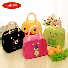 Insulated Oxford Duck Frog Beer Lunch Bag Thermal Food Picnic Lunch Bags for Women kids Men Cooler Lunch Box Bag Tote UIE668