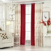 byetee Cotton And Linen Livingroom Window Curtain Bedroom Finished Fabrics Kitchen Blackout Curtains For Living Room Red Drapes