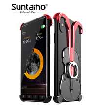 Suntaiho Phone Case Aluminum Alloy Violin Phone border Case for iPhone 7/8 With 360 Finger Ring Stand Kickstand Case for iPhone6(China)