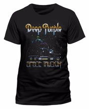 Cheap Tees Gildan Deep Purple Space Truckin O-Neck Short Sleeve Christmas Mens Shirt