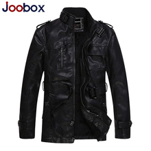 2017 mens leather jackets and coats thick warm pilot leather jacket wool liner leather suede slim fit biker jacket (PY017)