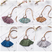 Buy Vintage Tassel Women's necklaces Ethnic Long Leather chain Sweater chain necklaces women Hollow Flower Long tassel necklace for $1.79 in AliExpress store