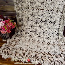 free shipping cotton flower lace tablecloth for home decoration crochet tablecloth sofa towel fashion cotton piano cover(China)