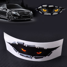CITALL Car-Styling Funny 3D Simulation Monster Leopard Eye Peeking Sticker Car Auto Window Mirror Trucks Fridge Whole Body Cover(China)