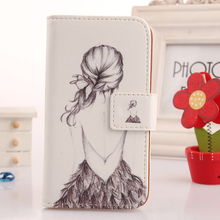 LINGWUZHE Magnetic Buckle Painting Wallet Design Cell Phone Bag Flip PU Leather Cover For Archos Diamond S 5 Case