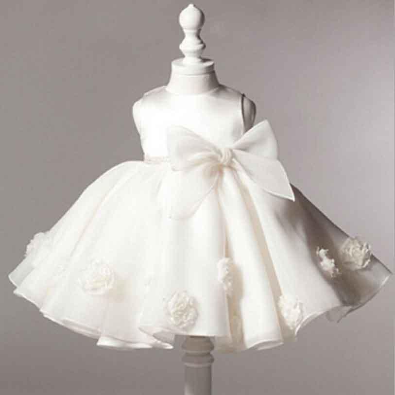 Flower baby Girl Dress Princess Wedding Dresses for Girls Elegant Kids Party Wear Ceremonies Birthday Baptism Cake Dress YAA039