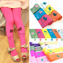 2017 Children Girls Tights With Cats Kids Cute Pantyhose Lovely Cartoon Hello kitty Velvet Stocking Child Tights For Girls