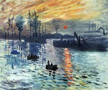 Sunrise, 1872 by Claude Monet Oil Paintings for Living Room Handpainted Canvas Art Work Landscape Painting Impressionist