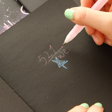 HOT Blank Black paper Sketch book B5 22 sheets Sketchbook Diary drawing Painting graffiti soft cover Office School Supplies gift