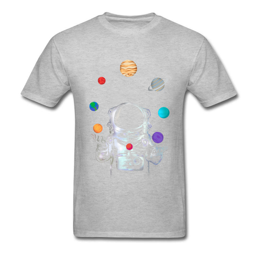 Space Circus Crazy Labor Day 100% Cotton Round Neck Male Tops & Tees Party T-shirts Plain Short Sleeve Tshirts Space Circus grey