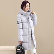 2016 Plus Size Fashion Female Outerwear  Warm Slim Thickened Winter Wearing Down Jacket High-neck Full Sleeve Zipper Coat