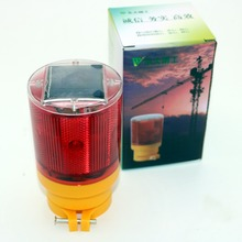 1pc Super Bright 6LED 2.4V Solar energy warning lights traffic lights tower crane Airport (capacity 1300mAh)