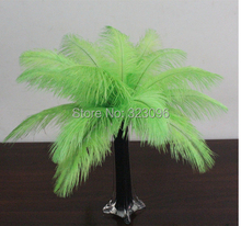 "Wholesale 50pcs/lot 40-45 cm 16-18"" OSTRICH PLUME  Ostrich drab feather OSTRICH FEATHERS wedding decoration Light green"