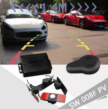 Car Video Parking system Reverse Backup Radar with Flat 13mm Parking Sensors Buzzer Alarm Connect  DVD and TFT LCD Monitor