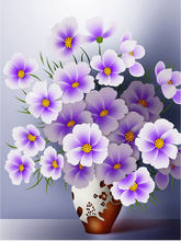 Purple flower vase mosaic diy 5d diamond painting home Decor Wall Sticker Full Diamond Hand made cross stitch crystal