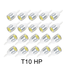 20PCS white auto wedge T10 canbus 1smd T10 LED canbus car led T10 canbus w5w 194 error free automotive light bulb lamp(China)