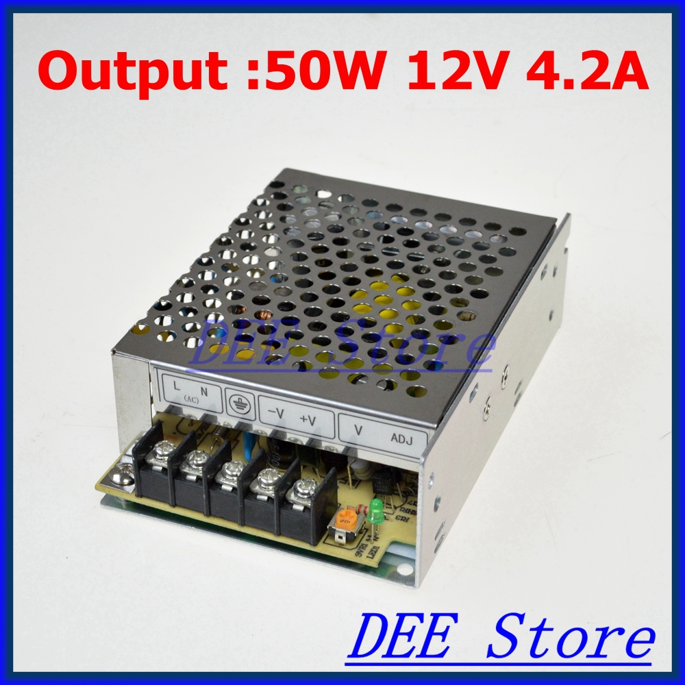 M-50-12 LED-35 Led driver 50W 12V 4.2A Single Output  Adjustable Switching power supply  for LED Strip light  AC-DC Converter<br><br>Aliexpress