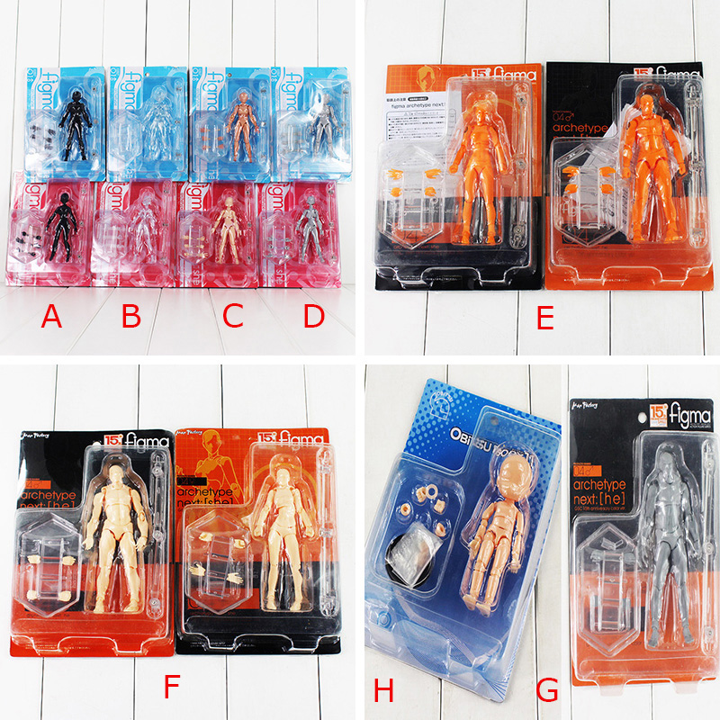 15 Styles Figma Archetype Transparent Ver. She &amp; He Doll PVC ACGN Action Figure Toys Brinquedos Body Kun Chan<br><br>Aliexpress
