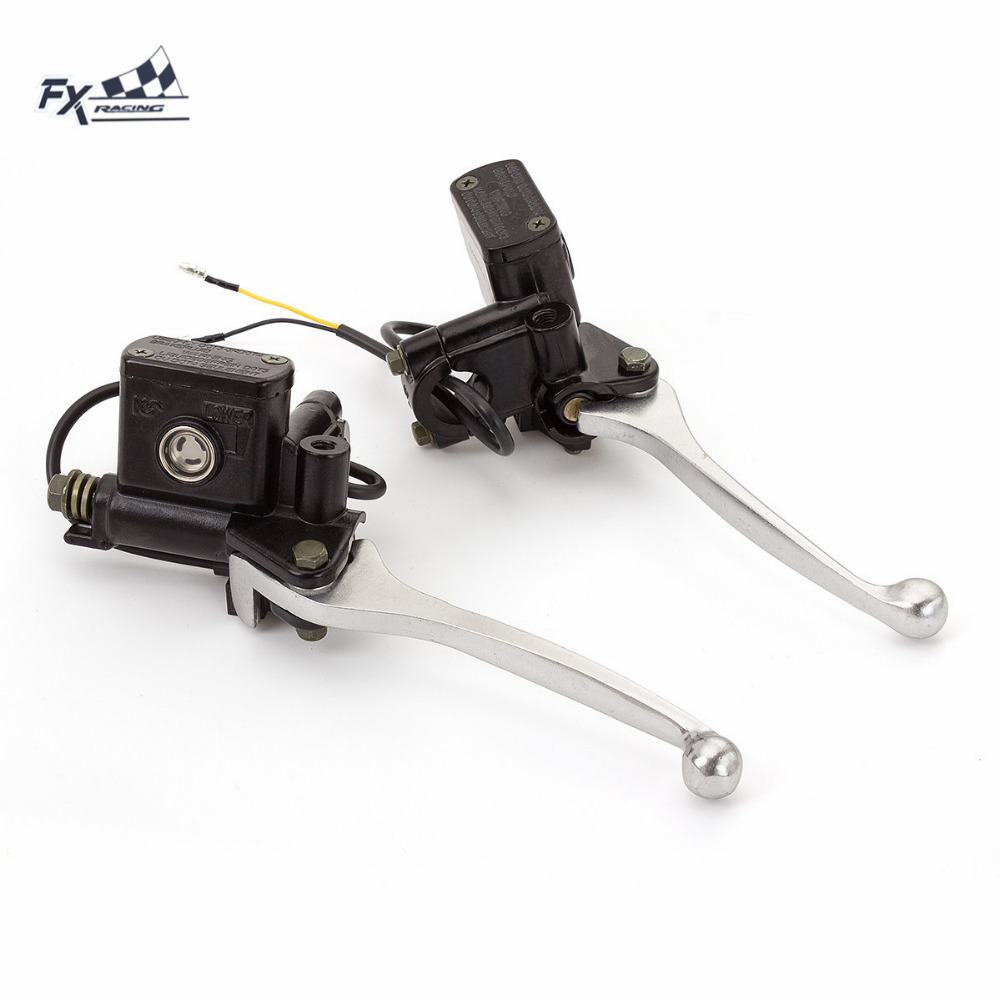 Universal Motorcycle Hydraulic Brake Clutch Lever Master Cylinder Reservoir Lever 7/8 For 125CC - 500CC Motorcycles Accessories<br>