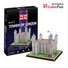 CubicFun DIY Paper Puzzle 3D Toy Famous Architecture Cardboard Puzzles Assembled Tower Of London Model Kids Toys Brinquedos Gift(China)
