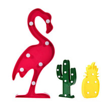 3D LED Flamingo Lamp Pineapple Cactus Nightlight Romantic Night Light Table Lamp For Christmas Decorations Home Decor