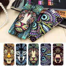 Brand Animals Lion Wolf Owl Pattern Hard Back Phone Case For iPhone se 5s 6 6s 7 Plus Glow In The Dark Luminous Forest King Case