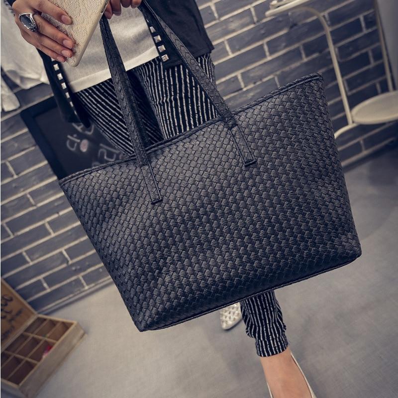 Simple Tide Handbags Embossed Woven Pattern Shoulder Bag Summer Autumn Bangalor Female Korean Handbag<br><br>Aliexpress