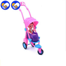 A TOY A DREAM Doll Trolley+Kids Chair Doll Furniture Accessories Barbie Doll Small Cart Chair Children Kids Toys Girls best Gift