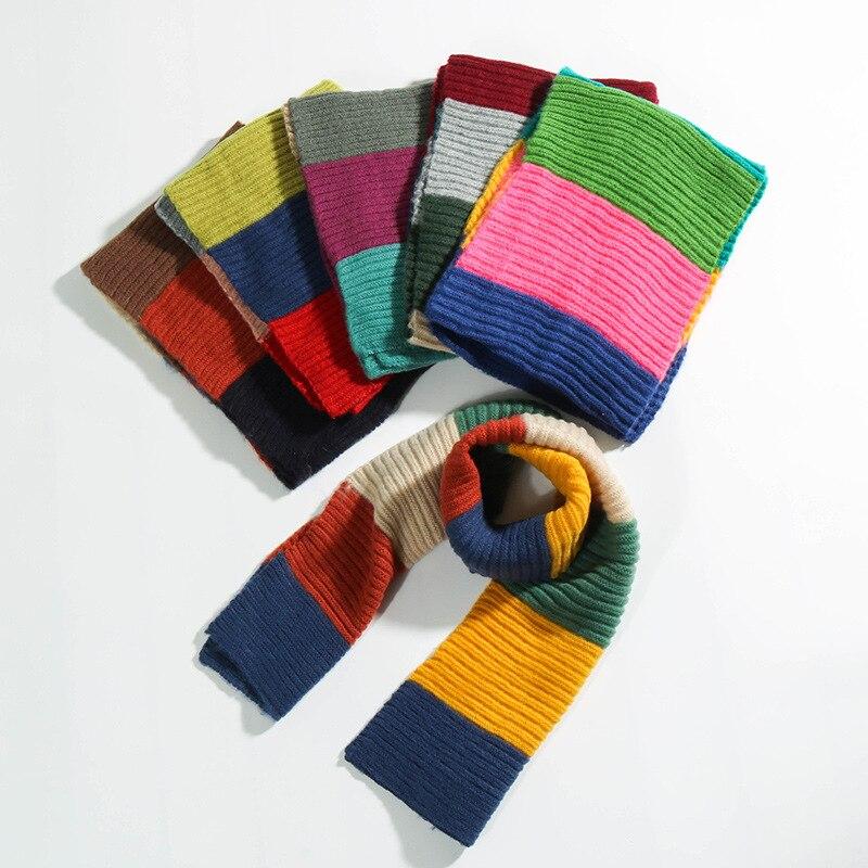 Autumn Winter Children Cotton Scarf Baby Fashion Knit Collar Girl Boy Warm Blanket Scarf Kids Neck Wear Scarves Wrap Accessories