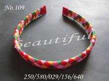 20pcs Hand Customize Hair Accessories Free Shipping  BLESSING Good Girl Fashion Handicraft D- Woven Headband 5 Style 120 No.