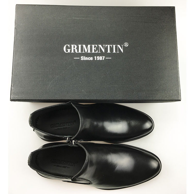 GRIMENTIN-fur-ankle-boot-mens-Italian-designer-genuine-leaher-black-wedding-business-shoes