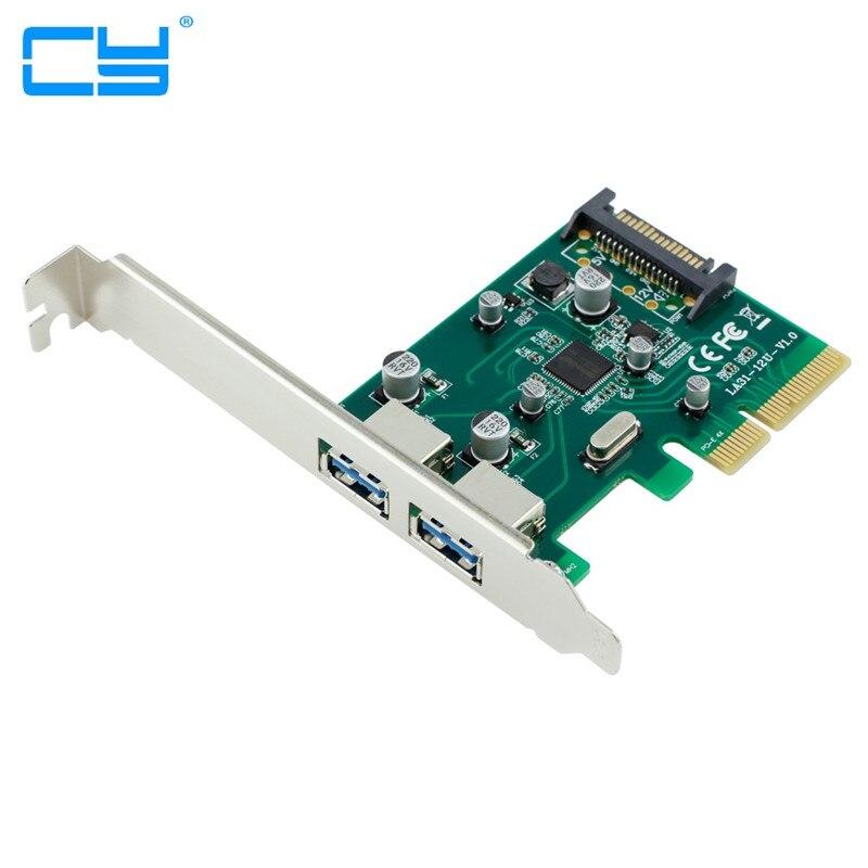 4X PCI-E PARA USB 3.1 Tipo-Um Tipo A 2 porta Feminino + SATA fonte de alimentacao Adaptador Conversor Cartao Add on Cartoes com <br>