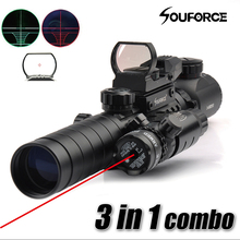 Buy 3 1 Combo 3-9X32EG Riflescope Long Range Red Dot Laser Red/Green Dot Holographic Reflex Sight Rifle Airsoft for $34.99 in AliExpress store