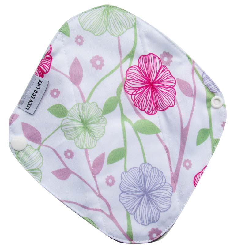 [Lecy Eco Life] Reusable lady light days cloth pads, waterproof pantyliner with bamboo charcoal inner, Feminine Hygiene Product 10