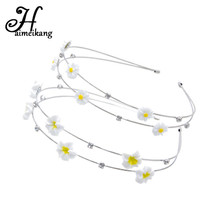 Fashion Double-Layer Metal Hair Bands Women Cute Sunflower Rhinestone Hair Hoop Headband Hair Accessories for Girls Gifts(China)